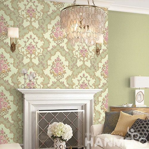 HANMERO Modern Classic Design PVC 1.06M Pink Color Wallpaper Room Wall Decor Wallcovering Wholesaler with Competitive Prices