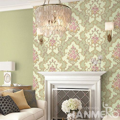 HANMERO Eco-friendly Washable Home Decoration Wallcovering 1.06M PVC Wallpaper with Wholesale Price Beautiful Designs
