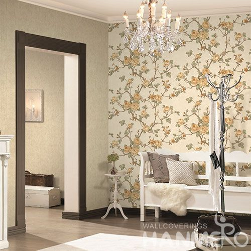 HANMERO Modern Simple Style 1.06M Wallpaper with Fancy Floral Patterns Household Room Wallcovering for Wholesale Prices