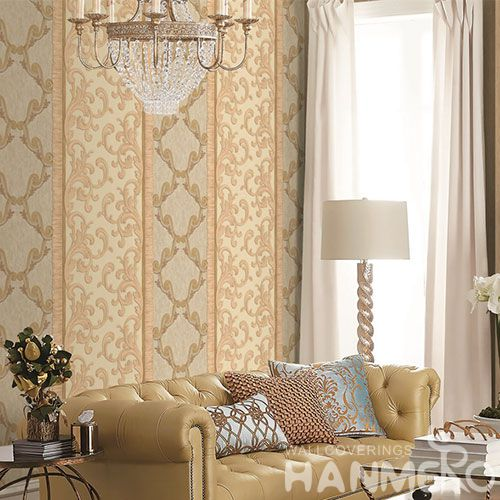 HANMERO Decorative Household Wall Wallcovering Manufacturer 1.06M PVC Wallpaper Wholesale Trader from China