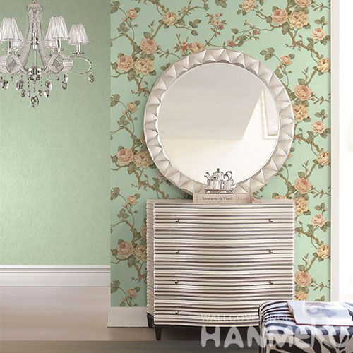 HANMERO Removable Eco-friendly PVC Wallpaper from Chinese Exporter with Beautiful Flower Patterns for Interior Home Decoration