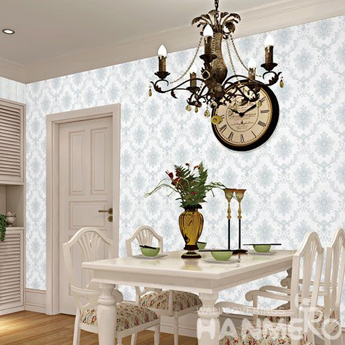 HANMERO Non-woven High Quality Best Prices 0.53 * 10M Damask Wallpaper for Interior Wall Design Wallcovering Vendor from Hubei China Chinese