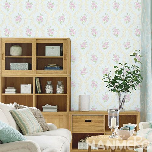 HANMERO Interior TV Background Wallcovering Non-woven Floral Wallpaper European Classic from Chinese Factory Competitive Prices