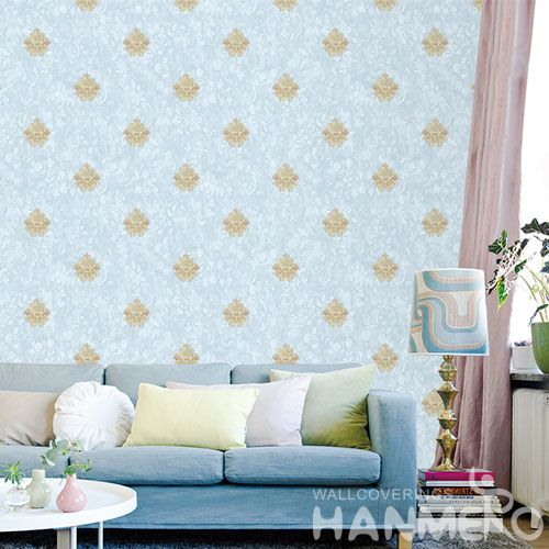 HANMERO Damask Design Durable Kitchen Bathroom Wallpaper Non-woven 1.06M Factory Sell Directlly Chinese Wallcovering Distributor