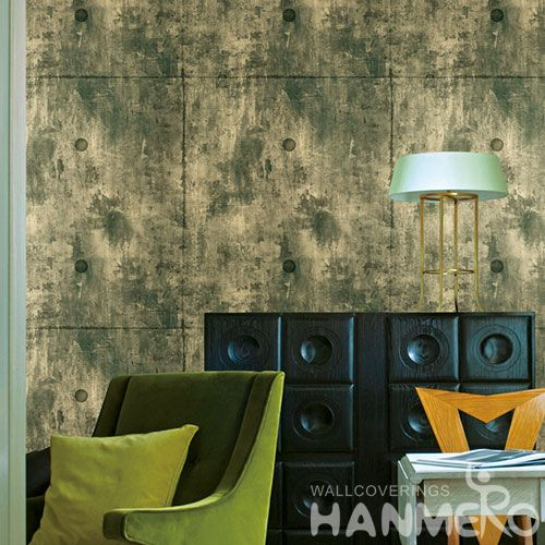 HANMERO Vinyl Washable PVC 0.53 * 10M Wallcovering for Hotels Restaurants Chinese Wallpaper Supplier in Modern Simple Style