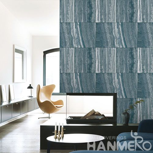 HANMERO Removable PVC Wallpaper 0.53 * 10M in Stone Texture for Lounge Rooms Decor from Chinese Wallcovering Vendor Newest