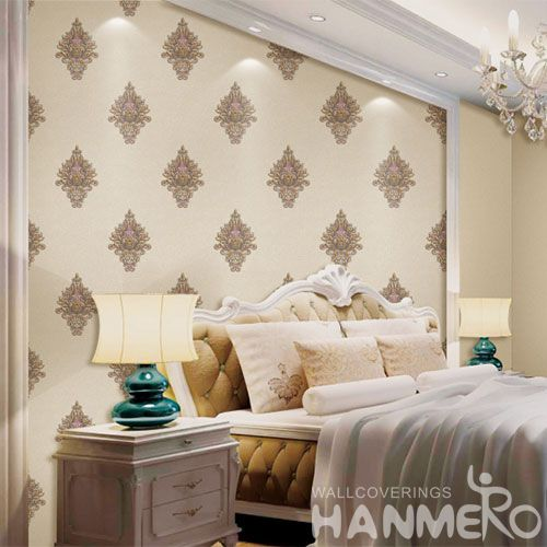 HANMERO Simple Design Modern Classic Style PVC Wallpaper 0.53 * 10M Best Prices Chinese Wallcovering Dealer Home Decor