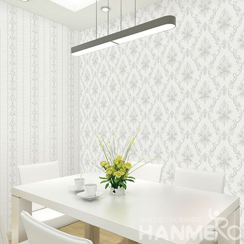 HANMERO Classic Damask Best Selling Fancy Design Wallpaper 0.53 * 10M Non-woven Wallcovering for Interior Wall Designer from Professional Manufacturer