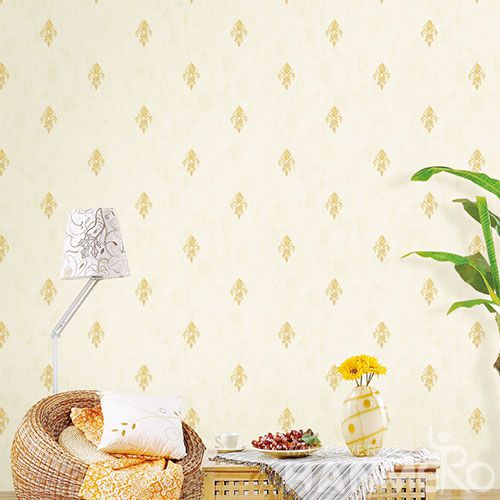 HANMERO Yellow Beige European Modern New Arrival Chinese Wallpaper for Sofa Background Wall Design Wallcovering Dealer SGS CE Certificate
