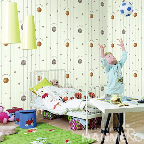 HANMERO Best Selling Fashion Football Design Walllpaper in Modern Style from Chinese Manufacturer 0.53 * 10M Non-woven Kids Room Decoration