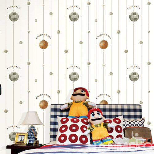 HANMERO China Manufacture Wall Decoration Wallpaper Stylish Football Design Non-woven Wallcovering for Kids Room Livingroom Decor on Sale