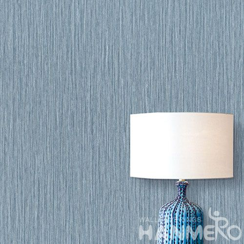 HANMERO PVC Light Blue Wallpaper European Simple Style from Chinese Wallcovering Seller Pure Color Home Decor