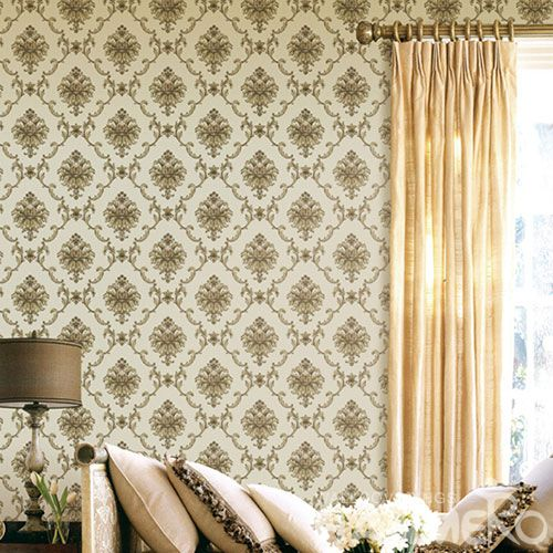 HANMERO PVC Removable Chinese Supplier Natural Material Wallpaper for Luxury Home Decoration with Damask Designs