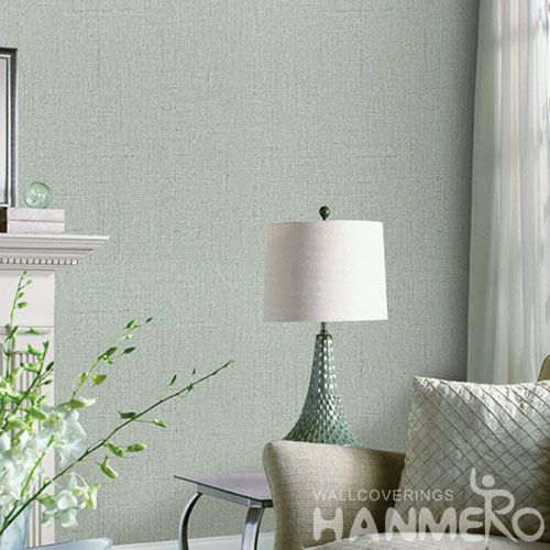 HANMERO Affordable Cozy Pure Color Natural PVC Wallpaper Household Room Wallcovering Best Prices from Chinese Dealer
