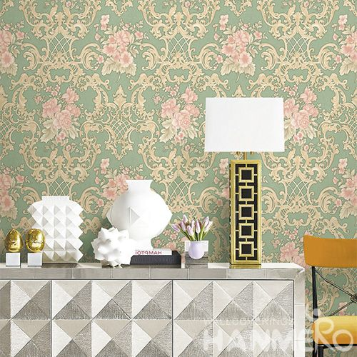 HANMERO Chinese Dealer Vinyl PVC Wallcovering 0.53 * 10M Removable Deep Embossed Wallpaper for Office Exhibition Wall High Quality