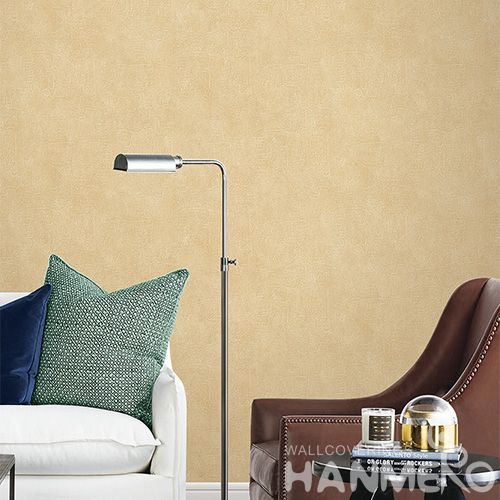 HANMERO Modern Economical 0.53 * 10M PVC Wallpaper Beige Pure Color Wallcovering Wholesale Prices TV Sofa Background Wall Decorative