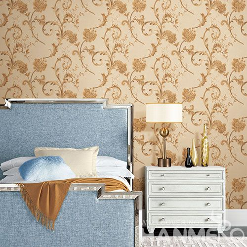 HANMERO Modern European Style Photo Quality Wallpaper 0.53 * 10M / Roll PVC Restaurants Wallcovering Classic Vines designs Top Grade