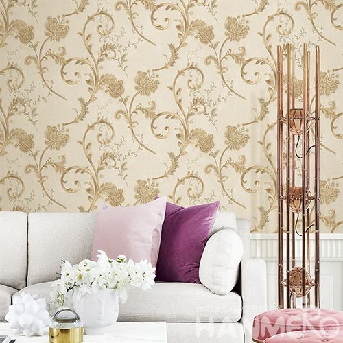 HANMERO Vinyl Modern European Style Wallcovering 0.53 * 10M PVC Factory Sell Directlly Wallpaper Study Room in Stock Wholesale