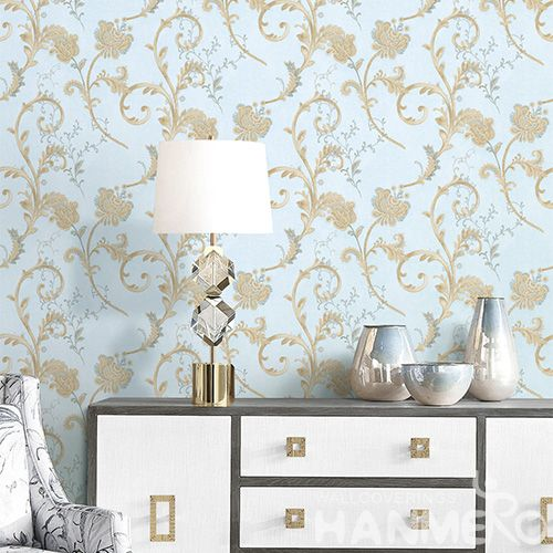 HANMERO Nature Sense 0.53 * 10M / Roll Wallpaper PVC Kids Bed Room Wallcovering Beautiful Vines Design Classic Style on Sale