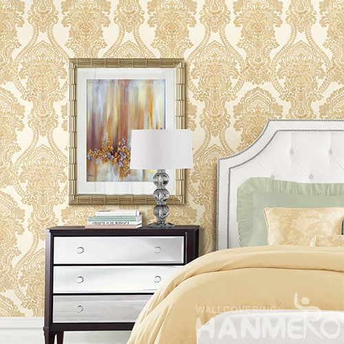 HANMERO Modern PVC Natural Material Wallpaper with Fashion Stylish Damask Designs for Wallcovering Distributors Sellers