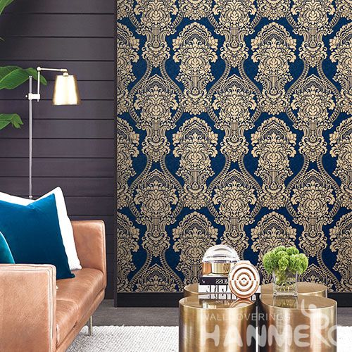 HANMERO Chinese Wallcovering Supplier Natural Material PVC Deep Embossed Wallpaper for Commericial Office Wall Usage