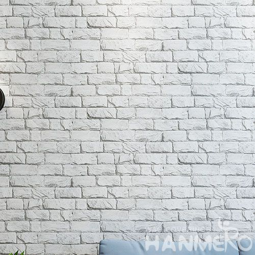 HANMERO Removable Household Decor PVC 0.53 * 10M Wallpaper 3D Brick Design Excellent Quality from Chinese Factory