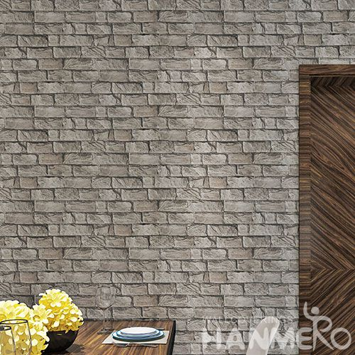HANMERO Modern New Style 3D Brick Design Decorative PVC 0.53 * 10M Wallpaper for Interior Household Wall Designer