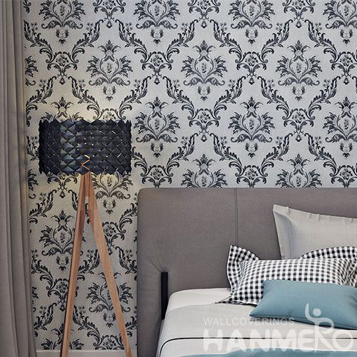 HANMERO Embossed Floral Pattern High Quality Bed Room Natural Sense Wallpaper PVC 0.53 * 10M Wallcovering Dealer