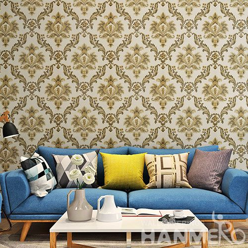 HANMERO Best Selling Fancy Design Wallpaper 0.53 * 10M PVC Wallcovering for Interior Wall Designer Professional Manufacturer