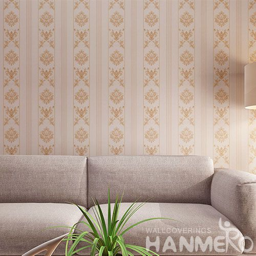 HANMERO Stripes Pattern Wallcovering 0.53 * 10M PVC Wallpaper Factory Sell Directlly for Household in Stock New Design