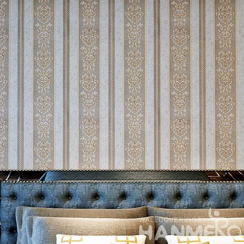 HANMERO Modern European Stripes 0.53 * 10M PVC Wallpaper for House Home Decoration  Superior Quality Best Prices