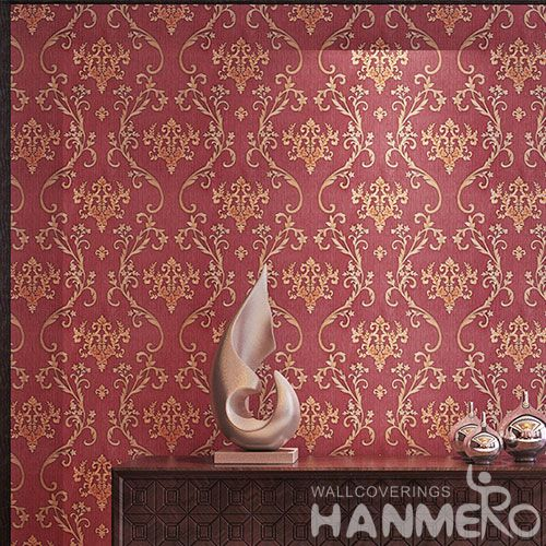 HANMERO European Modern Removable Chinese Supplier Wallpaper PVC 0.53 * 10M Design for Cozy Home Decoration