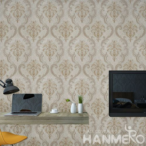 HANMERO Embossed Modern Simple Design Best Prices PVC Wallpaper Interior Wall Design Wallcovering Vendor from Hubei China