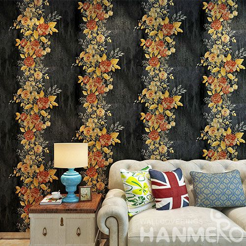 HANMERO Best Selling Fashion Flowers Design Walllpaper Modern European Style Chinese Manufacturer Kids Room Decoration