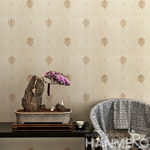 HANMERO Economic Natural Material New Style PVC Wallpaper 0.53 * 10M / roll for Bedroom House Decorative Factory Sell Directly
