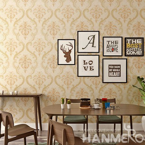 HANMERO Strippable New Fashion PVC 0.53 * 10M Wallpaper for Living Room Bathroom Wall Manufacturer Designer from China