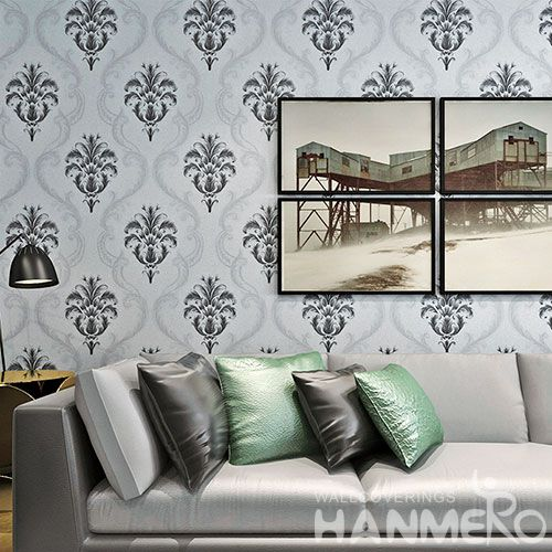 HANMERO Classic Home Interior PVC Wallpaper for TV Sofa Background from Professional Wallcovering Manufacturer