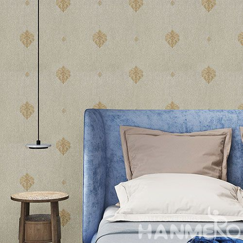 HANMERO Removable Chinese Supplier Natural Sense PVC Wallpaper Cozy Home Decoration European Simple Style Cheap Prices