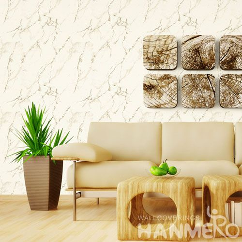 HANMERO High Quality Stone Marble Pattern PVC Wallpaper Home Interior Room Decoration Chinese Factory