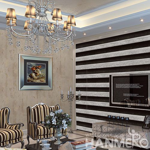 HANMERO Modern New Stone Design PVC Wallpaper for Walls Grey Color Hot Selling for Living Room Decoration from China