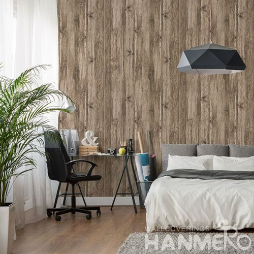 HANMERO PVC Wood Strippable Modern Style Wallpaper Ideas Professional Chinese Wallcovering Exporter Wholesale Prices