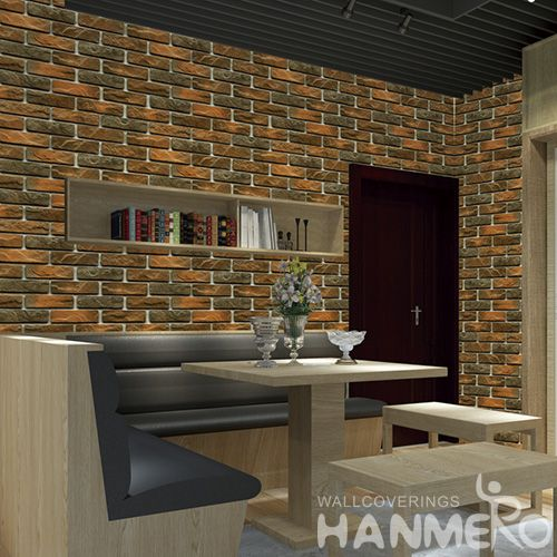 HANMERO Exported Affordable Office Household Wallpaper Online Shopping 3D Stone Pattern 0.53 * 10M Wallcovering from Chinese Factory