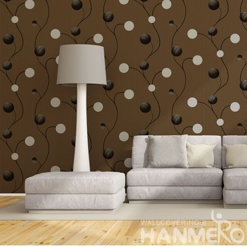 HANMERO New Style PVC Commercial Wallpaper 0.53 * 10M Nature Texture Study Room Decor Chinese Wallcovering Dealer Latest