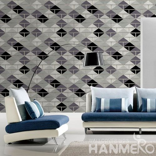 HANMERO Eco-friendly Stone Germetric Pattern Home Decoration Wallcovering 0.53 * 10M / Roll Wallpaper on Wall of House Wholesale Prices