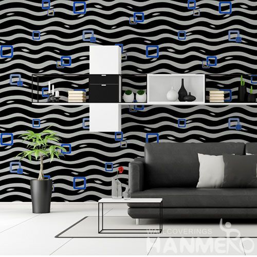 HANMERO Chinese PVC 0.53 * 10M New Arrival Strippable Modern Wallpaper Ideas for Living Room Elegant Home Room Wall Decoration