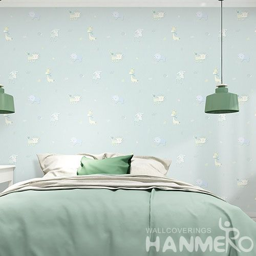 HANMERO Professional Home Wallcovering Modern Animals Design Non-woven Wallpaper for Interior Household Kids Room Wall