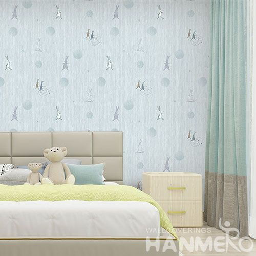 HANMERO 1.06M Non-woven Modern Cartoon Design Wallpaper Fresh Hot Selling Wallcovering Factory Sell Directly