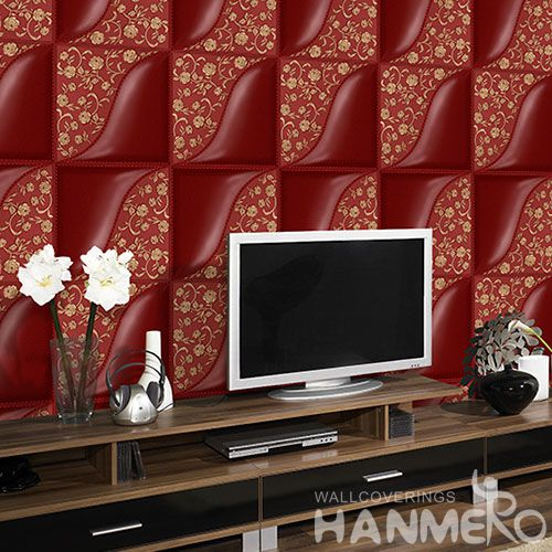 HANMERO Nature Gloden Geometric Pattern PVC 1.06M Korea Design Wallpaper Kids Bed Room Wallcovering from Chinese Exporter on Sale