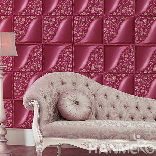 HANMERO New Arrival Geometric Pattern Bedroom Household 1.06M PVC 3D Wallpaper for Wall Decoration from Chinese Supplier