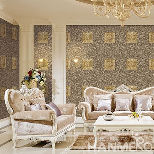 HANMERO 1.06M PVC 3D Wallcovering Factory from China Restaurant Kitchen Wall Decor Natural Material High Quality Wallpaper Exporter